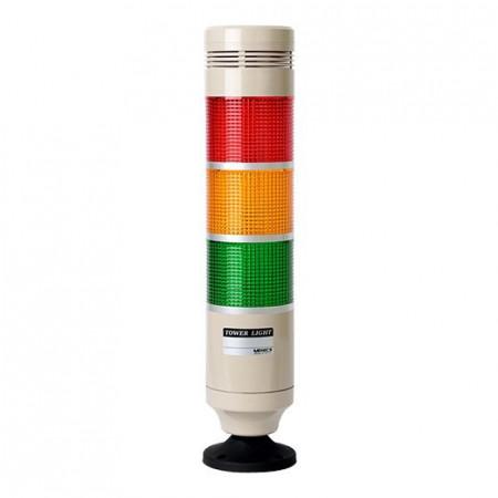 Signalni toranj PRGB-320-RYG , D56mm, 3 boje, zujalica 80dB, 8W, 220Vac IP20 Autonics