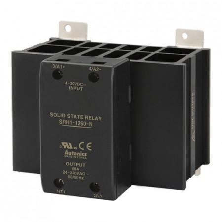 Solid State Relay SRH1-1260-N,integrisan hladnjak,1-fazni,ulaz 4-30Vdc,izlaz 24-240Vac, 60A Autonics
