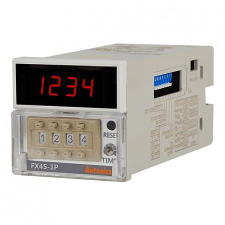 Brojač-Tajmer FX4S-1P4, dis.1 red-4 cifre,48x48mm,mehanički,1 relej,1 NPN,100-240Vac IP20 Autonics