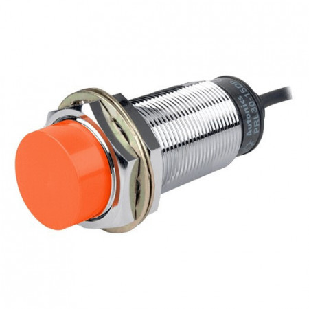 Induktivni senzor PRL30-15DP, M30x80mm, PNP NO, Sn=15mm, kabal l=2m, 3-žični 12-24Vdc, IP67 Autonics