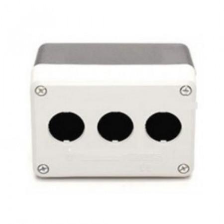 Kontrolna kutija PY3BOS, 3 otvora f22mm, crno-siva IP65 Emas
