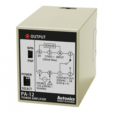 Senzor kontroler PA-12,NPN/PNP,SPDT NO/NC,110-220Vac Autonics
