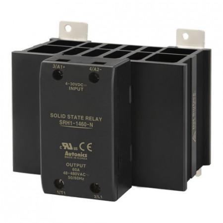 Solid State Relay SRH1-1460-N,integrisan hladnjak, 1-fazni,ulaz 4-30Vdc,izlaz 48-480VAC,60A Autonics