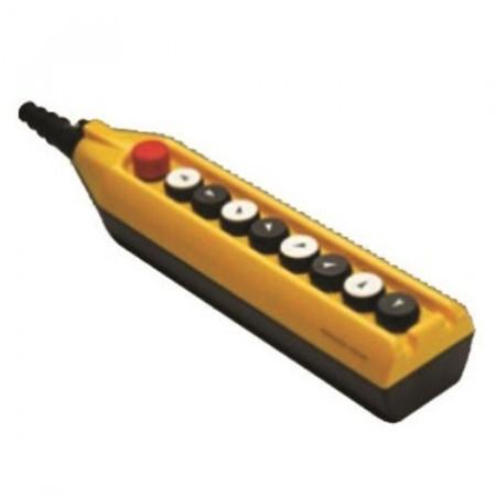 Tastatura za kranove PV9E30B444, 8 tastera+1 sve stop(NC), dupla brzina, 4A 250Vac IP65 Emas