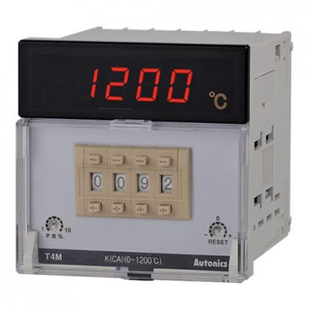 Termoregulator T4M-B4RP4C-N,disp.7 seg-4 cifre,72x72mm,PT100,0-400°,relejni SPDT,110-240Vac Autonics