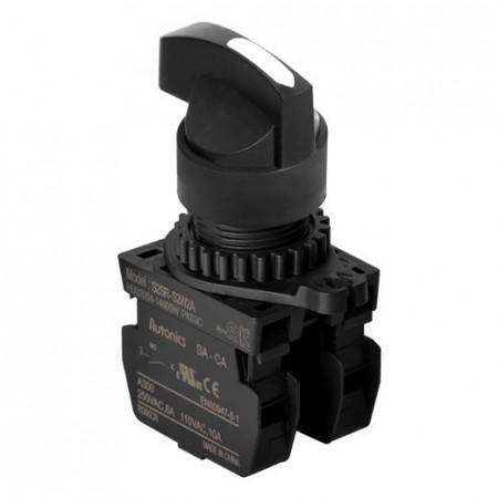 Prekidač tropoložajni S2SR-S8W2AM 1-0-2 90° IP52 Autonics