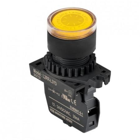 Signalna sijalica L2RR-L3YD žuta,12-24Vac/Vdc IP52 Autonics