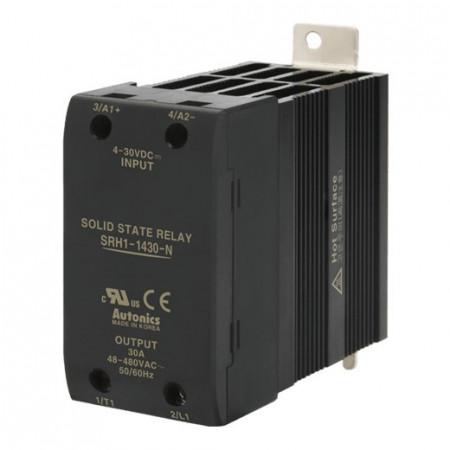 Solid State Relay SRH1-1430-N,integrisan hladnjak, 1-fazni,ulaz 4-30Vdc,izlaz 48-480VAC,30A Autonics
