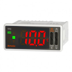 Termoregulator TF33-34H,disp.LED 1 red-3 cifre,77x35mm, NTC,DI-1, relejni,100-240Vac IP65 Autonics