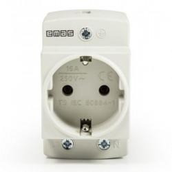 Utičnica na din šinu EPREU2GL, LED indikator, 16A, 2P+E, IP20 Emas