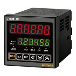 Brojač-Tajmer CT6M-1P2,dis.2 reda dig.,6 cifara,1 relej,2 NPN izl.,24Vac 50Hz 24-48Vdc IP65 Autonics