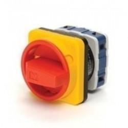 Grebenasti prekidač PSA020AK241E, 2x20A (0-1), 2 nivoa (ž/c) 90°, 6kA, 48x48mm IP54 Emas