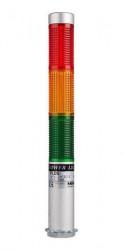 Signalni toranj PLDS-302-RYG, D25mm, 3 boje, aluminijumsko kućište, 24Vac/dc IP52 Autonics