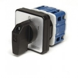 Grebenasti prekidač PSA025AK331S, 3x25A (0-1), 2 nivoa 60°, 6kA, 48x48mm IP54 Emas