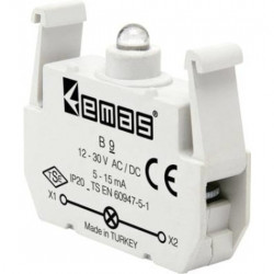 Kontakt blok sa LED diodom B9, 5-15mA, 10-30V AC/DC zelena IP20 Emas