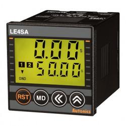 Tajmer LE4SA, disp.2 reda-4 cifre,48x48mm,7 mode,2 relejna(SPDT),8-pina,24-240Vac/Vdc IP65 Autonics