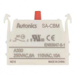 Kontakt blok SA-CBM, stop-mirni, 1NC, modularni, 6A 250Vac Autonics