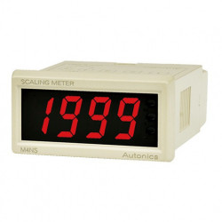 Panelmetar M4NS-NA, LED, W48xH24mm,4 Digit, 4-20 mA input,max. display range -1999 to 9999 Autonics