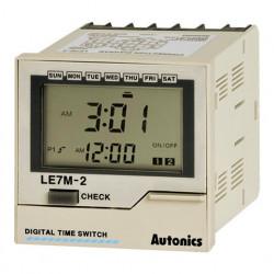 Tajmer LE7M-2,digitalni,3 režima rada,nedeljni/godišnji mod,2 relejna (SPDT),DIN 100-240Vac Autonics