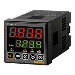 Brojač-Tajmer CT4S-1P4,disp.2 reda-4 cifre,48x48mm,1 relejni,1 NPN izlaz,240Vac IP65 Autonics