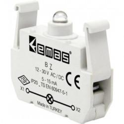 Kontakt blok sa LED diodom B7, 5-15mA, 10-30V AC/DC plava IP20 Emas