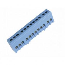 Redna stezaljka QBLOK1201, jednopolna, 12 rupa, plava, tip QBLOK12/BLU Cabur