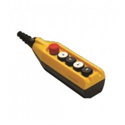 Tastatura za kranove PV5E30B44, 4 tastera+1 sve stop(NC), dupla brzina, 4A 250Vac IP65 Emas