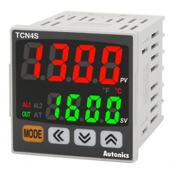 Termoregulator TCN4S-22R disp.2 reda-4 cifre,48x48mm,2 alarma,PID,relejni/SSR,24-48Vdc IP65 Autonics