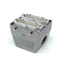 Industrijski konektor EBM32FU10, muški, bočni ulaz kabla, 32 polni, 16A, 690V, 6 kV, IP65 Emas