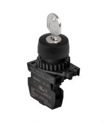 Prekidač dvopoložajni S2KR-2EKAM 0-1 sa ključem IP52 Autonics