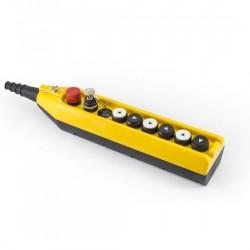 Tastatura za kranove PV9E30B444AC20, 8 tastera+1 sve stop(NC),dupla brzina, 4A 250Vac IP65 Emas