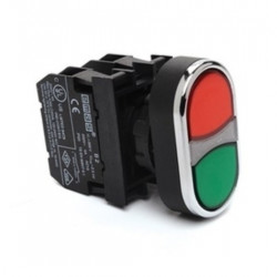 Taster blok B102K20KY, 1NO+1NC, zeleno-crveni, fi22mm, 4A 250Vac IP50 Emas