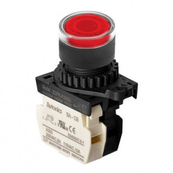 Taster crveni S2PR-P3RBDM, 1NC, sa LED indikacijom 12-24Vac/dc, 6A 250Vac IP52 Autonics