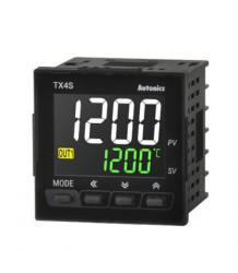 Termoregulator TX4S-24R, disp. LCD,2 reda,4 cifre,2 alarma,relejni,100-240Vac 50/60Hz,IP65 Autonics
