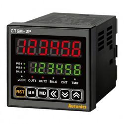 Brojač-Tajmer CT6M-2P4T,dis.2 reda-6 cifara,72x72mm,2 relejna izlaza,RS485,100-240Vac IP65 Autonics
