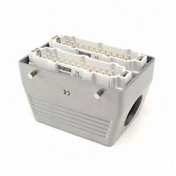 Industrijski konektor EBM48FU10, muški, bočni ulaz kabla, 48 polni, 16A, 690V, 6 kV, IP65 Emas