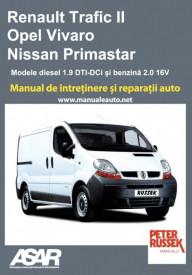 Manual auto Renault Trafic II - Opel Vivaro - Nissan Primastar 2001-2006