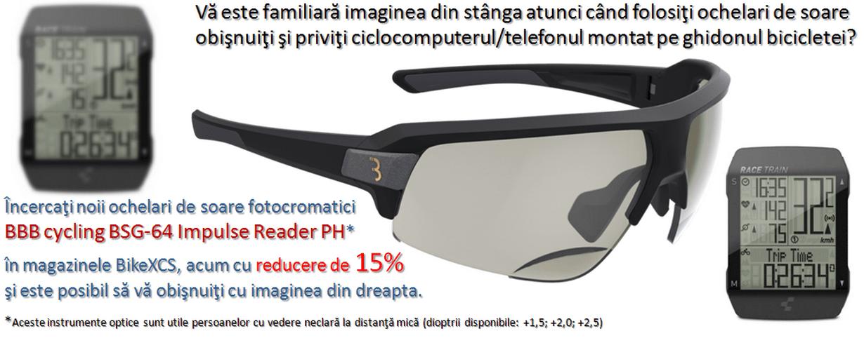 Ochelari BBB BSG-64PH Impulse Reader +1,5/+2,0/+2,5 Fotocromatici negri