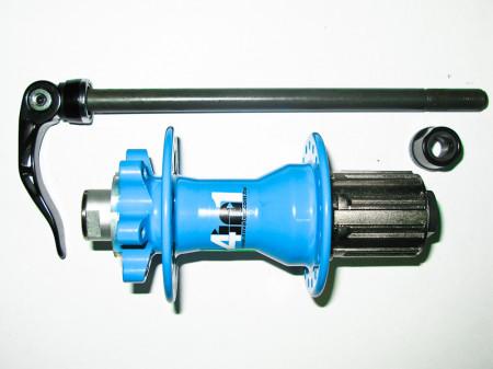 Butuc spate Novatec QR-9, 4rulmenti, 4in1, Fluo-Blue