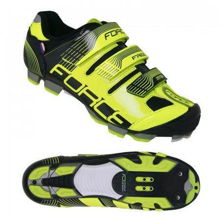 Pantofi Force Free MTB Negru/Fluo