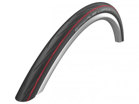 ANVELOPA SCHWALBE LUGANO II BLACK RED 700X25C