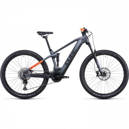 Bicicleta CUBE STEREO HYBRID 120 PRO 625 Flashgrey Orange