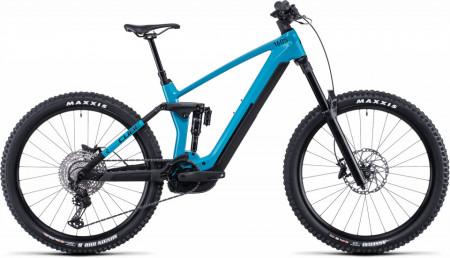 Bicicleta CUBE STEREO HYBRID 160 HPC SL 625/750 27.5 Aquamarine Black