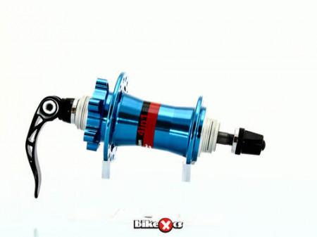Butuc fata Novatec D881 SB Disc 4 in 1 Albastru Anodizat