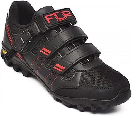 Pantofi ciclism FLR Freeride Bushmaster Pro MTB - Negru-Rosu