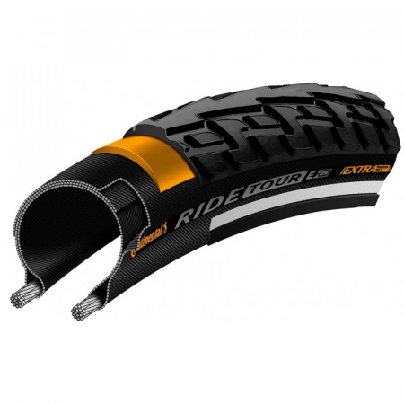 Anvelopa Continental Ride Tour Reflex Puncture-ProTection 700-28c negru/negru
