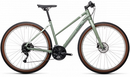 BICICLETA CUBE HYDE GREEN`N´GREY