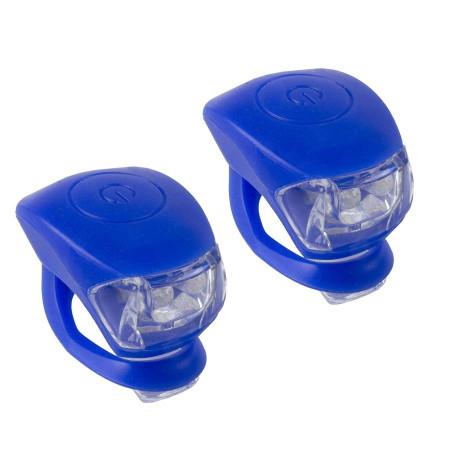 Set Lumini Flash M-WAVE Cobra IV Albastru