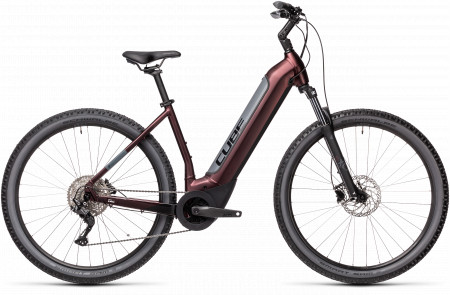 BICICLETA CUBE NURIDE HYBRID PRO 500 EASY ENTRY Berry Grey