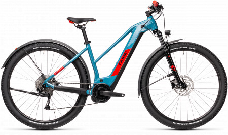 BICICLETA CUBE REACTION HYBRID PERFORMANCE 500 ALLROAD Blue Red